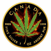 Canada Cannabis Gold And Black Ruthenium 1oz Rare Collectible Coin Limited Edition