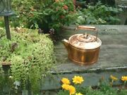 Arts And Crafts Brass And Heavy Solid Copper Tea Or Coffee Pot Kettle