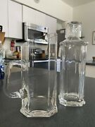 Vtg Riedel Clear Crystal Cocktail Set Pitcher And Decanter With Shot Glass Lid