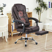 Ergonomic Office Chair W Footrest Recline And Massage Height Adjustable Desk Chair