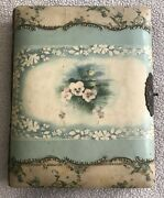 Antique Victorian Celluloid And Velvet Photo Album Cabinet Card Photographs, As Is