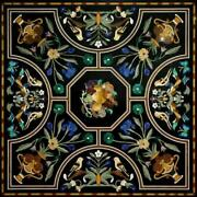 3and039x3and039 Marble Dining Coffee Corner Center Inlay Table Top Antique Mosaic O137