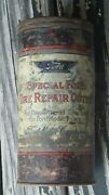 Antique Vintage 20s 1930and039 S Ford Tire Repair Kit Tin Accessories Model T Rare