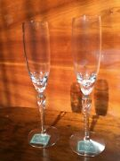 Lenox Aria Twisted Stem Pair Of Champaign Flutes New In Box Usa