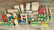 Huge 220+ Piece Lot Of Thomas The Tank Engine Wooden Trains Tracks Pieces Set