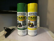 John Deere Yellow And Green Farm And Implement/mower Spray Paint 12 Oz, One Of Each.