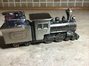 Vintage Comoyand039s Of London Train Locomotive Table Table Lighter Stainless 6 1/2andrdquo
