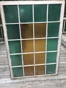 Antique Textured Architectural Colored Glass Diffused Light Church Windows