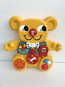 Vintage 1982 Matchbox Yellow Teddy Bear Baby Cot Activity Toy No Accessories