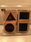 New In Box Stampin' Up Little Shapes W/ Four Never Used Stamps Excellent
