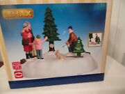 Christmas Village Family Out Cutting Perfect Tree Animated By Lemax