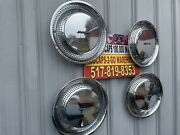 Airstream 15andrdquo Set 4 Hubcaps Full Wheel Covers Used 1959-1988 Stainless Retro Wow