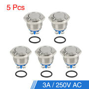 5pcs 16mm Momentary Stainless Metal Push Button Switch For Car Rv Truck Boat