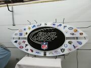 Bud Light Nfl 32 Teams Neon Sign 6-foot Collectible Chiefs 49'ers Ravens Packers