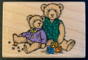 Hero Arts Antique Teddy Bears Toys Rubber Stamp