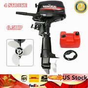 Hangkai 4 Stroke 6.5hp Outboard Motor Boat Engine Water Cooling Sys Short Shaft