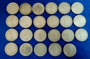 United Kingdom Lot X23 Two Shillings Coins Queen Elizabeth Ii 50and039s And 60and039s