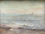 Painting Antique Jean Andrandeacute Rixens 1846-1925 - Marine Impressionist 1885