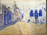 Tangier 1904. Pastel Orientalist Splendid Tan Signed And Dated