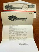 1926 Packard Smith Brothers Company Letter Signed Earl Smith Packard Letterhead