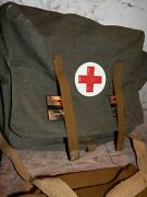 Authentic Soviet Russian Army Medic Bag Case Red Cross Ussr First Aid Rare New