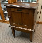 Wood Antique Keystone View Company Stereoview Storage Cabinet, Stand And 381 Cards