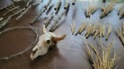 Miniature Barbed Wire Rustic Model Crafts Train Scenery Fence Barb Grass Skull
