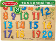 Melissa And Doug See And Hear Sound Wooden Puzzle, 21 Pieces Ages 3+ Brand New