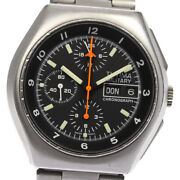 Tutima Military Chrono Day Date Black Dial Automatic Menand039s Watch_631504
