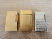 Authentic S.t. Dupont Lighters - Lot Of 3 - For Spares Or Repair