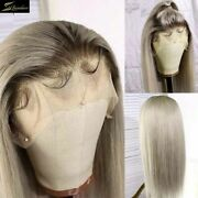 Preplucked Hd Transparent Lace Front Human Hair Wigs Ombre For Women Bleached