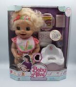2007 Baby Alive Doll Blonde Learn To Potty Rare Doll New Hasbro