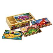 3 Puzzle Sets- Doug Pets And 2 Melissa And Doug Dinosaurs Puzzles