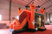 20x13x13ft Commercial Inflatable Pumpkin Halloween 3in1 Bouncers House W/ Slide
