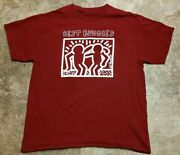 Keith Haring Best Buddies Pt Barnum Double-sided Art T-shirt Large 20 X 27