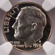 Ngc 10c 1978-s Proof Roosevelt Dime Split Die And Clashed Dies Pf69 Uc