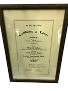 Named Ww1 Canadian 177th Battalion Cef Certificate Of Honour Cardinal Ontario