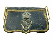 Imperial German Prussian Officers Cartouche Box And Metal Cypher