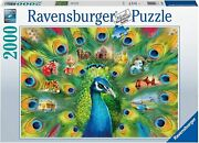 Ravensburger Land Of The Peacock 2000 Piece Jigsaw Puzzle For Adults Softclick P