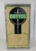 Vintage Rare 5 Gallon Empty Can Of Dettol For Decor Made In Montreal
