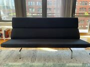 2006 Herman Miller By Ray And Charles Eames Sofa Compact Black Fabric Upholstery