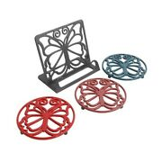 The Pioneer Woman Timeless Beauty Cast Iron Cookbook Holder And Trives Set