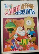 Pop-up The Night Before Christmas 1967 Random House 5 Pull-tabs 3 Pop-ups Used