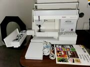 Pfaff Tiptronic 1171 Sewing Machine W/ Travel Case And Foot Pedal And Extras