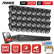 Annke 5in1 32ch Dvr 1080p Security Camera System Cctv Outdoor Exir Night H.265+