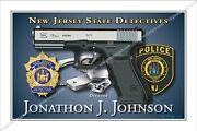 Police,new,jersey,state,detectives,patrol,trooper,highway,retirement,badge,gift