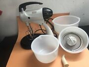 Vintage Sunbeam Mixmaster Stand Mixer Model 11. 10 Speed 2 Beater.tested See Pic