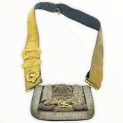 British Victorian Royal Artillery Ra Officers Cross Belt And Pouch