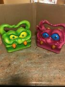 My Pet Monster Lunchbox - 2 Vintage Creature Features Monster Lunch Boxes -
