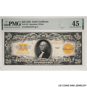 1922 20 Gold Certificate Pmg Choice Ef 45 Fr 1187 - Very Nice Note